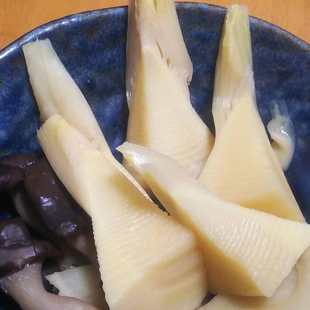この時期だけの贅沢️ 姫皮つきの穂先は最高に美味しい#筍姫 #タケノコ #煮物 #阿波たけのこ農園 #筍姫の里 #tokushima #japan #bambooshoots