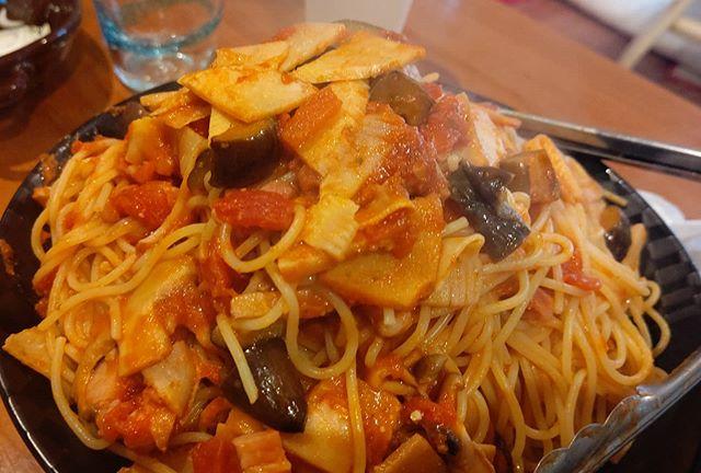 筍姫のトマトパスタ大盛り#筍姫 #阿波たけのこ農園 #農家めし #パスタ #pasta #タケノコ #タケノコレシピ #大盛り #ランチ #麺スタグラム #麺ほんま和洋中なんでもいけますよー!