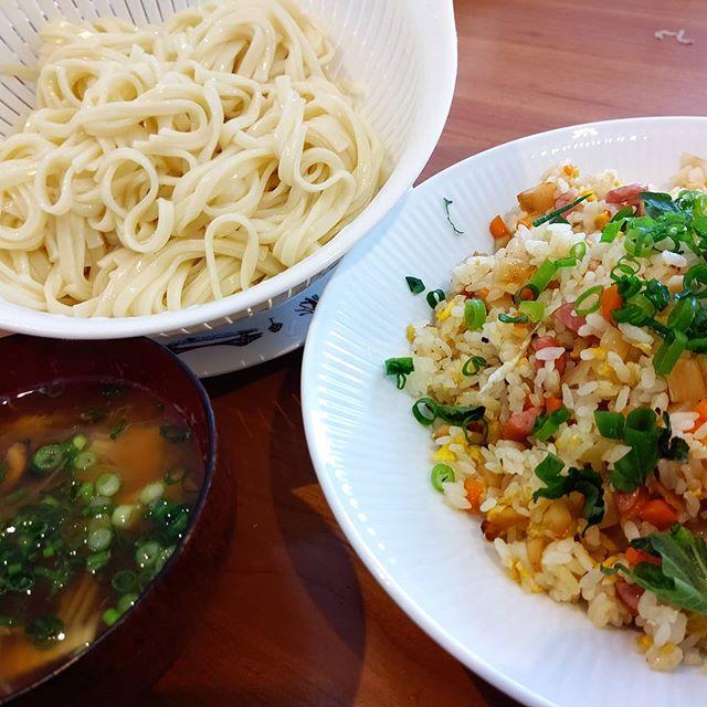 タケノコチャーハン&うどん Lunch