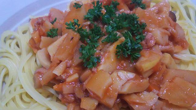筍姫のトマトパスタシンプルに旨い!#筍姫 #トマト #パスタ #pasta #タケノコ #タケノコレシピ #料理好きな人と繋がりたい #トマトパスタ #阿波たけのこ農園