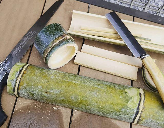 竹でつくって楽しんじゃおう!いろいろやりたいな#筍姫 #竹 #青竹 #工作 #阿波たけのこ農園