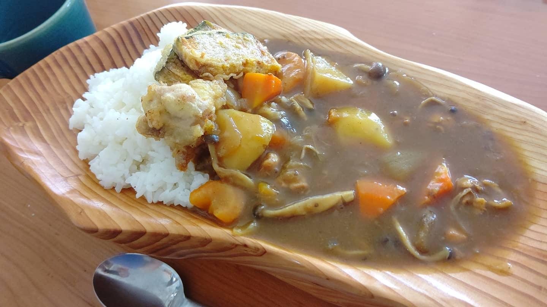 暑いからこそ夏野菜たっぷりカレー#カレー #curry #阿波たけのこ農園 #woodboardkuku