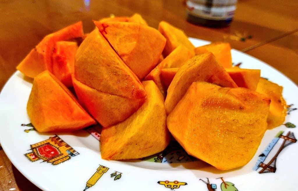 柿カリカリもジュクジュクも旨い️#柿 #里山 #地産地消 #阿波たけのこ農園