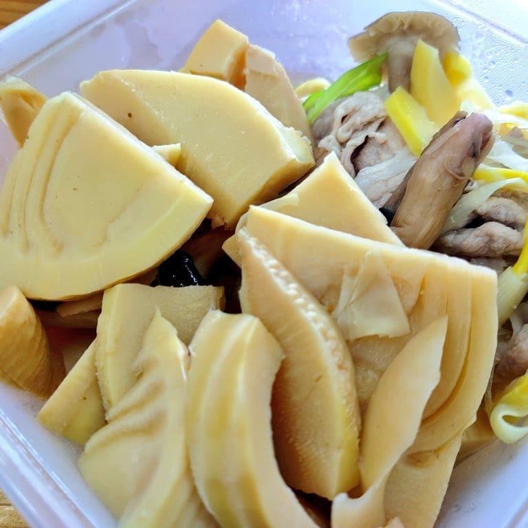 タケノコをおかずにタケノコを食べます #今日のお弁当 #おべんとう #弁当 #主食 #たけのこ #タケノコ #完全栄養食 #おいしい #徳島 #阿波たけのこ農園 #筍姫