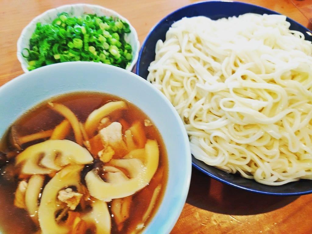 タケノコ汁つけ麺うどん